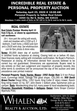 Incredible Real Estate & Personal Property Auction