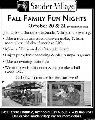 Fall Family Fun Nights