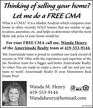 Let me do a FREE CMA