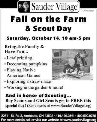 Fall on the Farm & Scout Day