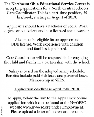North Central Schools Care Coordinator