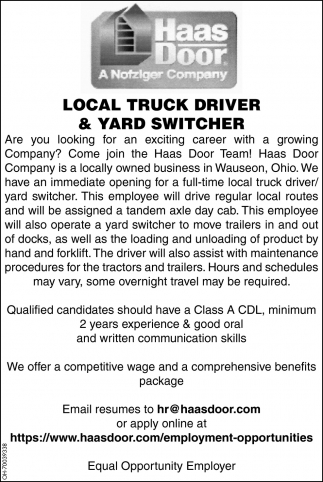 Local Truck Driver & Yard Switcher