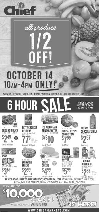 All Produce 1/2 off!
