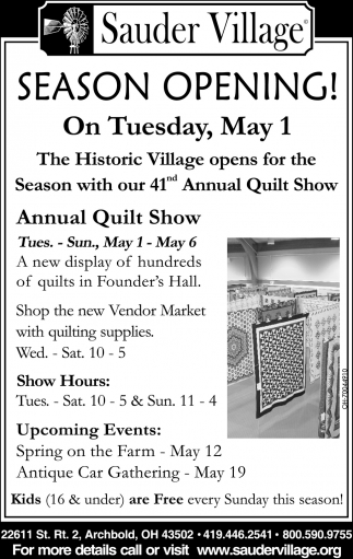 41nd Annual Quilt Show
