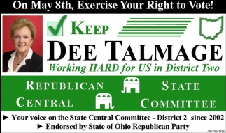 Vote Dee Talmage for State Central Committee