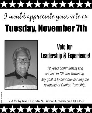 Vote for Ivan Hite