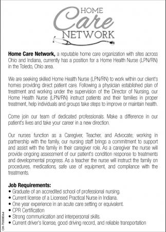 Home health nurse lpnrn home care network 1betcityfo Choice Image