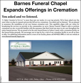 Expands Offerings in Cremation