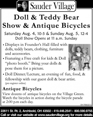 Doll & Teddy Bear Show & Antique Bicycles