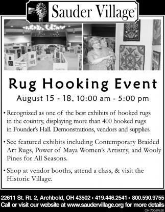 Rug Hooking Event