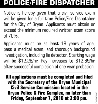 Police / Fire Dispatcher