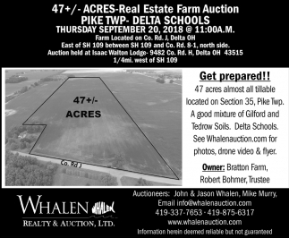 47+/- Acres Real Estate Farm Auction