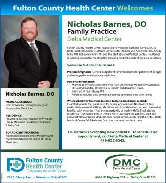 Nicholas Barnes, DO Family Practice