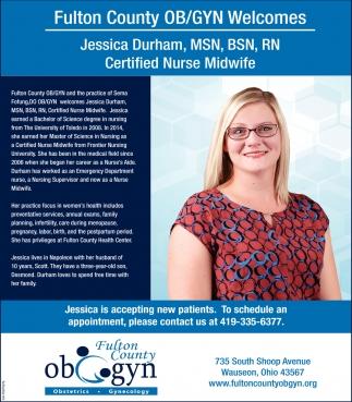 Jessica Durham, MSN, BSN, RN