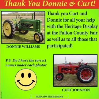 Thank You Donnie & Curt!