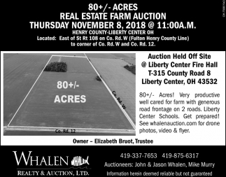 Real Estate Farm Auction