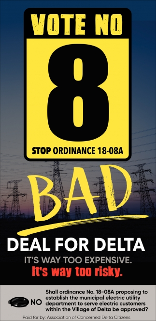 Vote No 8 Stop Ordinance 18-08A