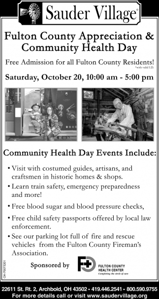 Fulton County Appreciation & Community Health Day