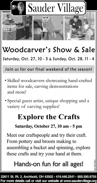 Woodcarver's Show & Sale