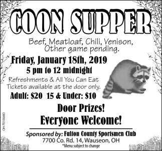 Coon Supper
