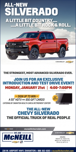 Silverado introduction and test drive event
