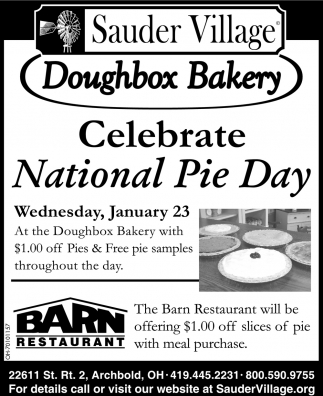 Doughbox Bakery, Celebrate National Pie Day