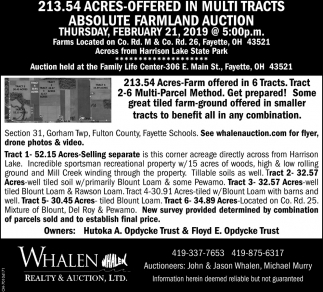 Absolute Farmland Auction