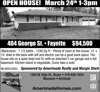 Open House  404 George St., Fayette