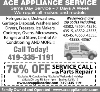 75% off with Parts Repair
