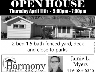 Open House - April 11th
