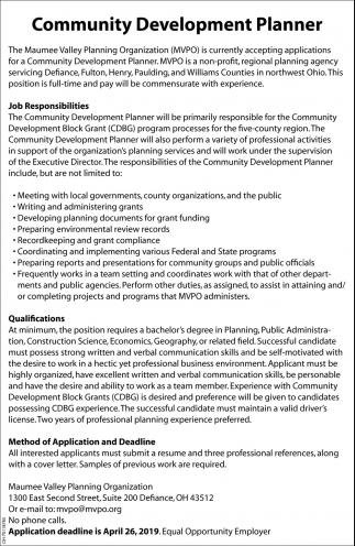 Community Development Planner