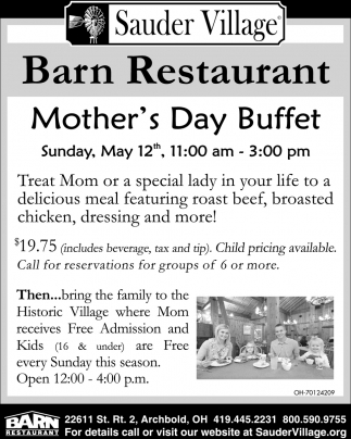 Mother's Day Buffett