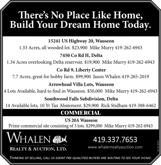 There's No Place Like Home, Build Your Dream Home Today