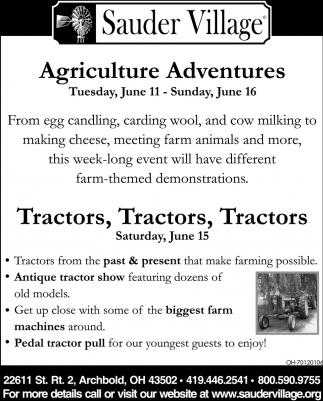 Agriculture Adventures | Tractors, Tractors, Tractors