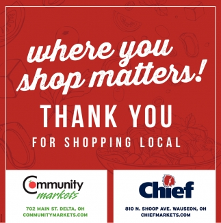 Where you shop matters! Thank You for Shopping Local