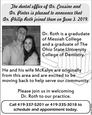 Welcome Dr. Phillip Roth, DDS