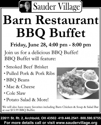 Barn Restaurant BBQ Buffet