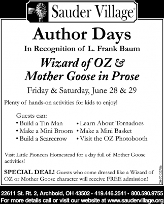 Wizard of OZ ~ Mother Goose in Prose