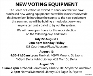 New Voting Equipment