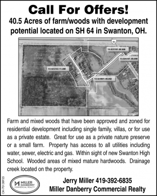 40.5 Acres of farm/woods with development potential located on SH 64 in Swanton