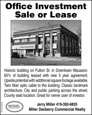 Office Investment Sale or Lease