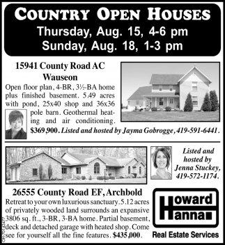 Country Open Houses