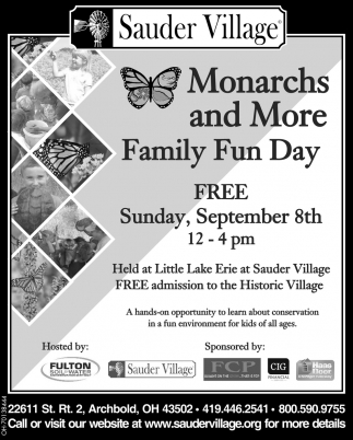 Monarchs and More Family Fun Day