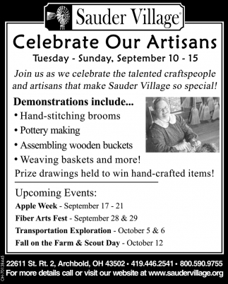 Celebrate Our Artisans