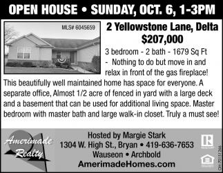 Open House - 2 Yellowstone Lane, Delta