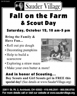 Fall in the Farm & Scout Day - October 12