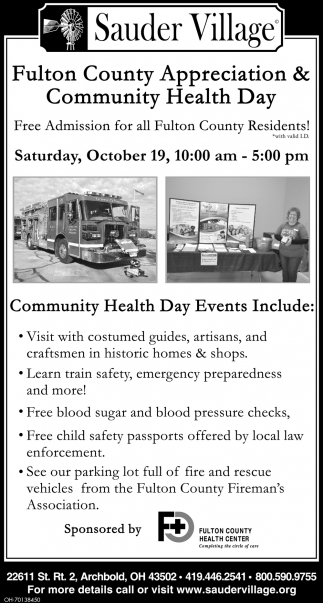 Fulton County Appreciation & Community Healt Day