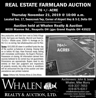 Real Estate Farmland Auction - November 21