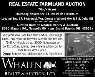 Real Estate Farmland auction - November 21