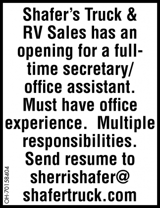 Secretary / Office Assistant